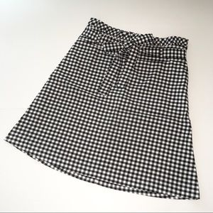 NWOT Cynthia Rowley Black & White Gingham  Skirt